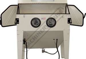 SB-420 Industrial Sandblasting Cabinet Inside Cabinet 1200 x 600 x 340-570mm (L x W x H) Includes In