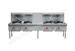 Four Hole Wok Table 24 Jet Chimney Burner