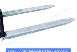 Galvanized Forklift Tyne Extension Slippers 2400mm