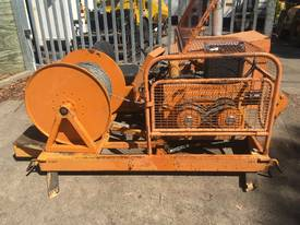 30Kn cable pulling bull winch , 4cyl Kubota 128hrs