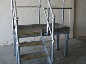 Raised Platform Steel Stairs - 0.76m high