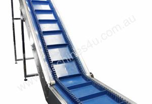 L-Shape Inclined Cleated Belt Conveyor with Wave E
