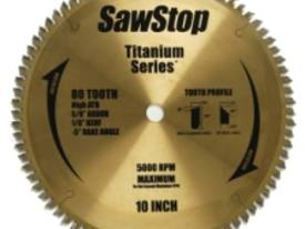 Sawstop titanium blade for plywood, MDF, chipboard
