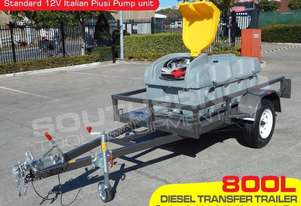 800L Diesel Fuel Trailer Lockable with 12V pump