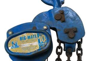 Chain Hoist 10 Ton x 3 meter drop lifting Block and Tackle Nobles Rigmate