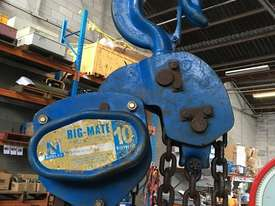 Chain Hoist 10 Ton x 3 meter drop lifting Block and Tackle Nobles Rigmate - picture0' - Click to enlarge