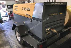 Used Atlas Copco XAS300 with built in Aftercooler and water trap