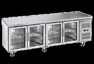 Exquisite SSC550G Snack Size Under Bench Chiller - Glass Doors