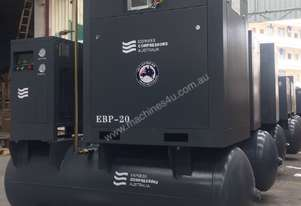 5.5kW - 27cfm Screw Compressor with tank and dryer (7hp)