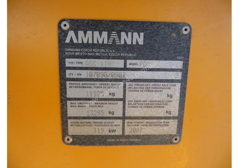 2007 Ammann ASC110PD Vibrating Padfoot Roller *CONDITIONS APPLY*