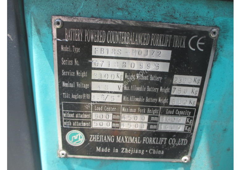 Maximal Electric, Container Mast Used Forklift
