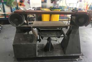 Large Belt Linisher machine with sliding table
