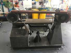 Large Belt Linisher machine with sliding table - picture0' - Click to enlarge