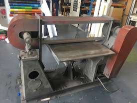 Large Belt Linisher machine with sliding table - picture1' - Click to enlarge