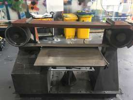 Large Belt Linisher machine with sliding table - picture6' - Click to enlarge