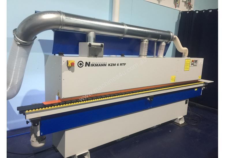 NikMann KZM6-RTF-v16 edgebander with corner rounder pre-mill and dust  extractor