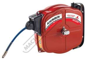 AWS812 Retractable Alemlube Air Hose Reel  12 Metre x Ø8mm ID Hose