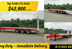 BRAND NEW Freightmore TAG Trailer in TRI AXLE Finance available