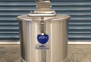 100ltr NEW Stainless Steel Food Grade Tank, Cream Tank