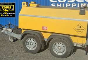 1400ltr Fuel Trailer, tandem axle, one owner, E.M.U.S. TS598