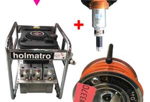 Holmantro Rescue Hydraulics Spreader, Petrol Powered Pump and Single Hose Reel - Used Items