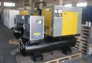 DMC SCREW COMPRESSOR WITH TANK AND DRYER PACK7-TA