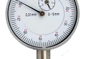 Small Dial Gauge 0-5mm x 0.01mm - Flat Back