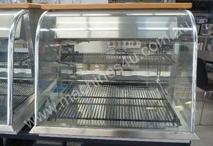 CURVED GLASS COUNTER TOP CAKE DISPLAY FRIDGE