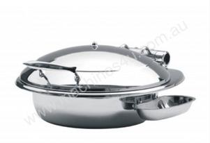 Safco Deluxe 6 Litre Round Induction Chafer - Solid Lid