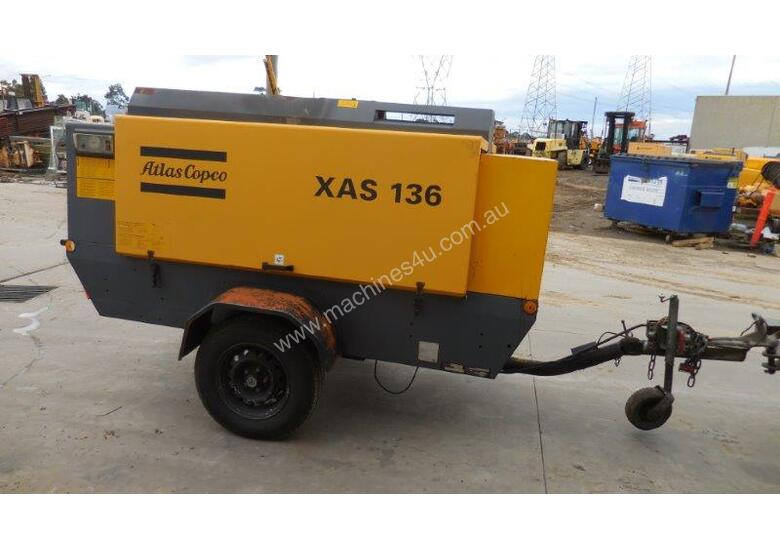 ATLAS COPCO XAS136 290CFM MOBILE DIESEL AIR COMPRESSOR