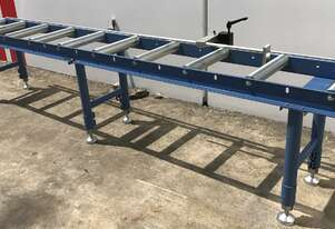 Calibrated Length Stop Roller Conveyor - 3000mm Long x 360mm Wide with Legs