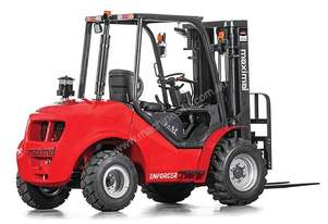 2.5T 4WD Rough Terrain Forklift, 4.3m 3 stage container mast, side shift, 5yr warranty. Rent to own