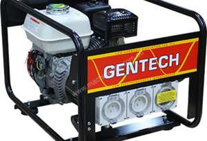 Gentech Honda 3.4kVA Generator with Worksafe RCD Outlet
