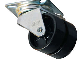 42054 - PLAIN BEARING RUBBER SWIVEL CASTOR(POLYPROPYLENE) - picture0' - Click to enlarge