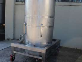 Stainless Steel Tapered Tank - picture1' - Click to enlarge