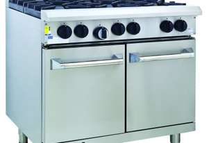 Luus RS-4B3P 900mm Oven with 4 Burners & 300mm Grill Professional Series