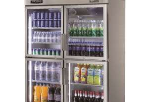 Skipio SRT45-4G Reach In Refrigerator Double Half Glass Door