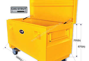 29296 - 1200X610X700MM SITE TOOL BOX WITH CASTORS