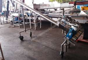 Tubular Screw Conveyor, 100mm Dia x 2800mm L
