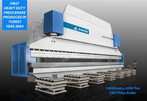 INANLAR CNC HAP 14400 x 2000 Ton Hydraulic Press Brake (Monoblock)