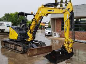 2015 YANMAR Vio45-6B MINI EXCAVATOR WITH HITCH, 3 BUCKETS, ZERO TAIL AND LOW 860 HOURS - picture1' - Click to enlarge