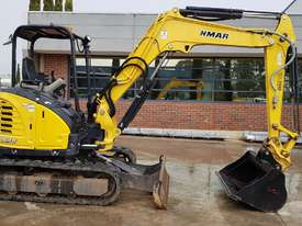 2015 YANMAR Vio45-6B MINI EXCAVATOR WITH HITCH, 3 BUCKETS, ZERO TAIL AND LOW 860 HOURS - picture2' - Click to enlarge