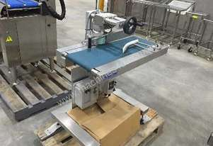 Labeller with Tray Turning/Orientation Conveyor plus Printer