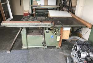 Wadkin table saw with sliding table