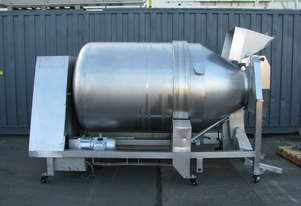 Industrial Stainless Steel Large Drum Tumbler Mixer - 2500L