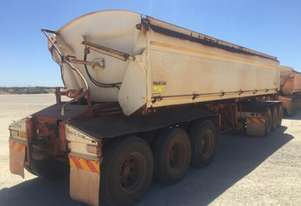 2011 ROAD WEST TRANSPORT EQUIPMENT RWT TRI350 SIDE TIPPER TRAILER
