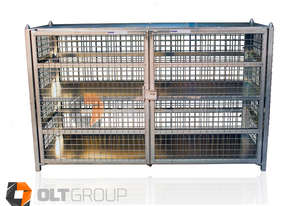 Gas Cylinder Storage Cage 24 x 9kg Bottles or 12 x 18kg Forklift Gas Bottles Lockable