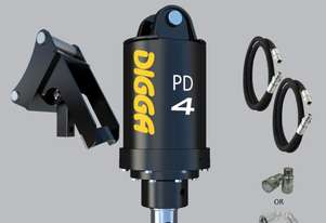 Digga PD4-2 auger drive with Hoses, Couplers and Cradles Hitch