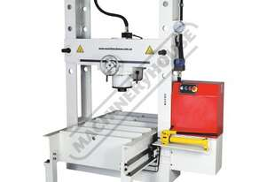 HPR-100T Industrial Motorised Hydraulic Roll Frame Press with Moveable Head - 100 Tonne 10hp 415V Mo