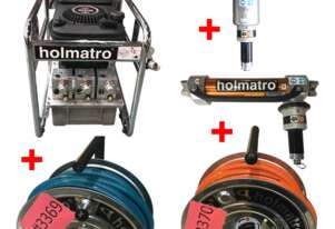 Holmatro Rescue Hydraulics Spreader, Petrol Powered Pump, 2 Single Hose Reel and Telescopic Ram - Us